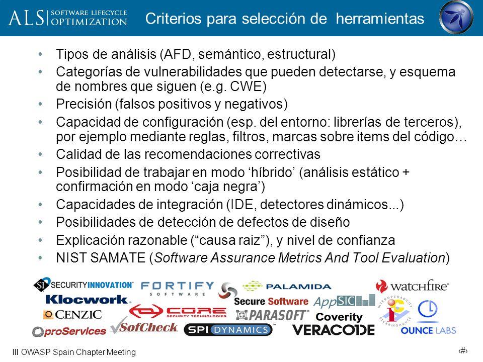 19 III OWASP Spain Chapter Meeting Herramientas