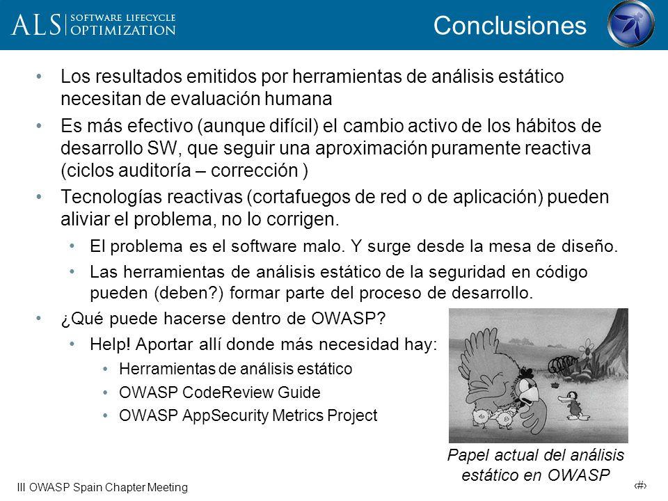 33 III OWASP Spain Chapter Meeting Bibliografía Economics and Security Resource Page (esp.