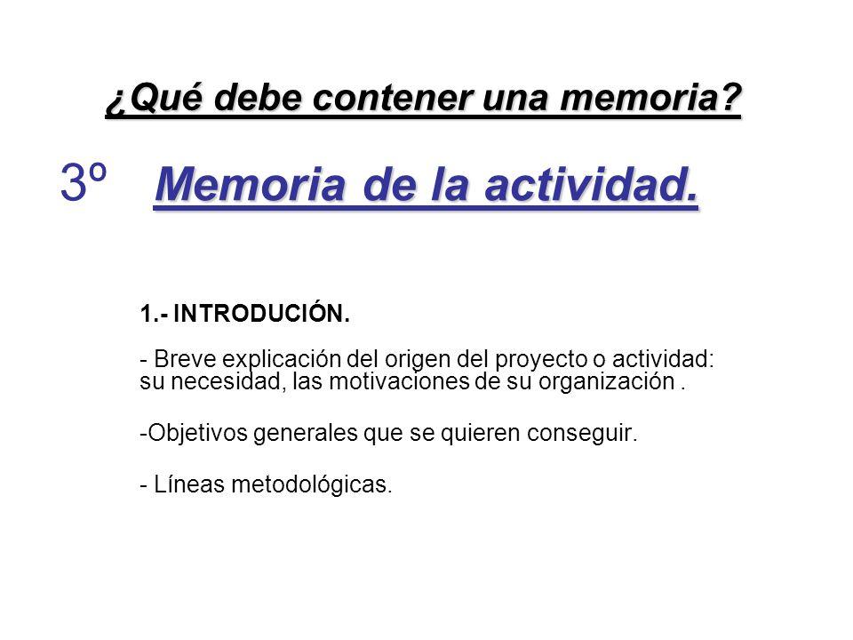 Memoria de la actividad.2.- DESCRIPCIÓN DE LA ACTIVIDAD.