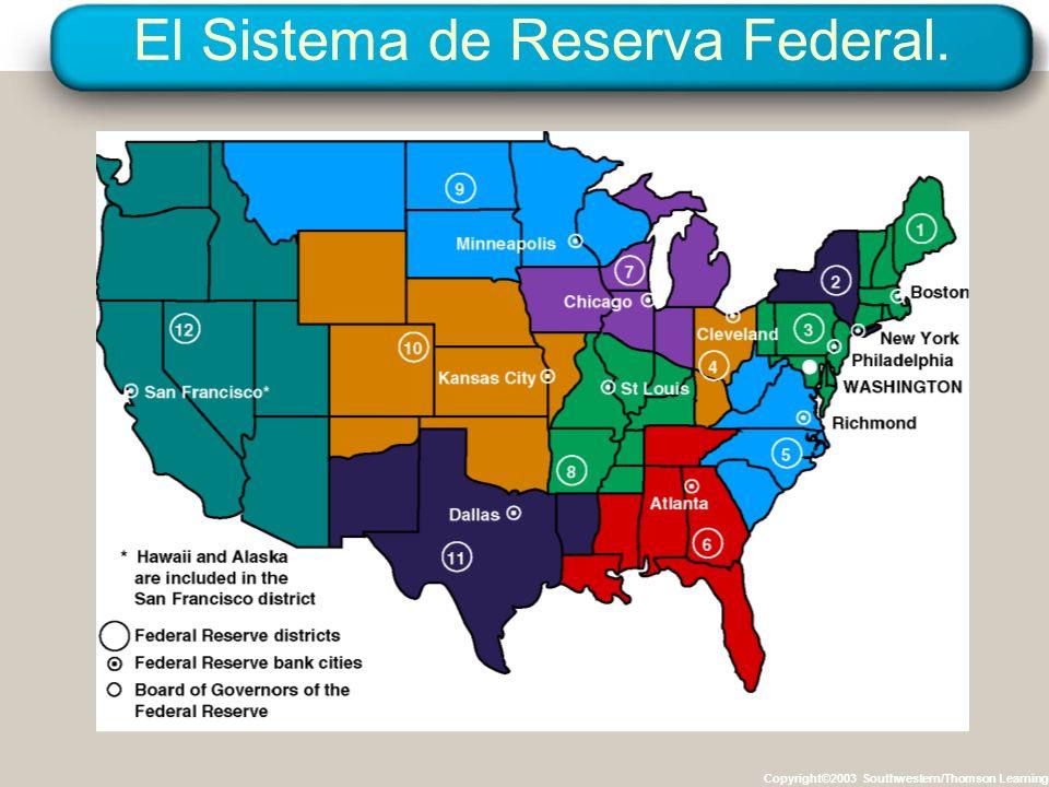 El Sistema de Reserva Federal. Copyright©2003 Southwestern/Thomson Learning