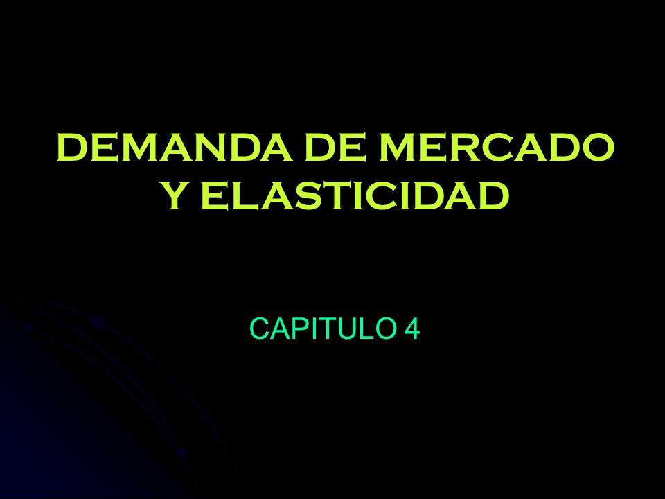 DEMANDA DE MERCADO Y ELASTICIDAD CAPITULO 4