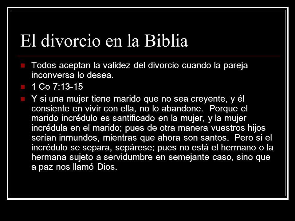 1 Co 7:10-11 Pero a los que están unidos en matrimonio, mando, no yo, sino el Señor: Que la mujer no se separe del marido; y si se separa, quédese sin casar, o reconcíliese con su marido; y que el marido no abandone a su mujer.