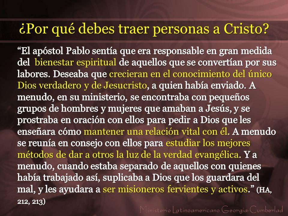 6.Un cristiano que no trae personas para Cristo no participará del reavivamiento prometido.