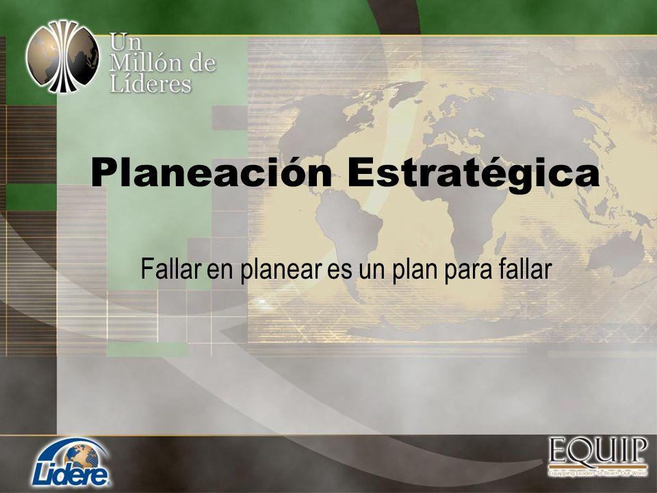 Planeación Estratégica Fallar en planear es un plan para fallar