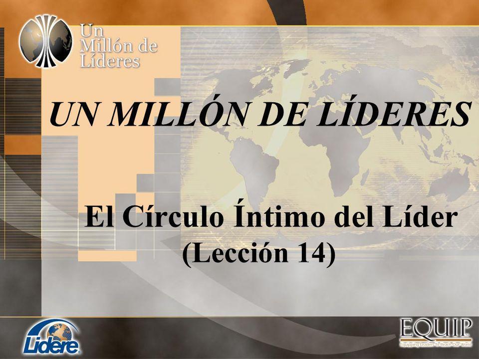 El Círculo Íntimo del Líder (Lección 14) UN MILLÓN DE LÍDERES