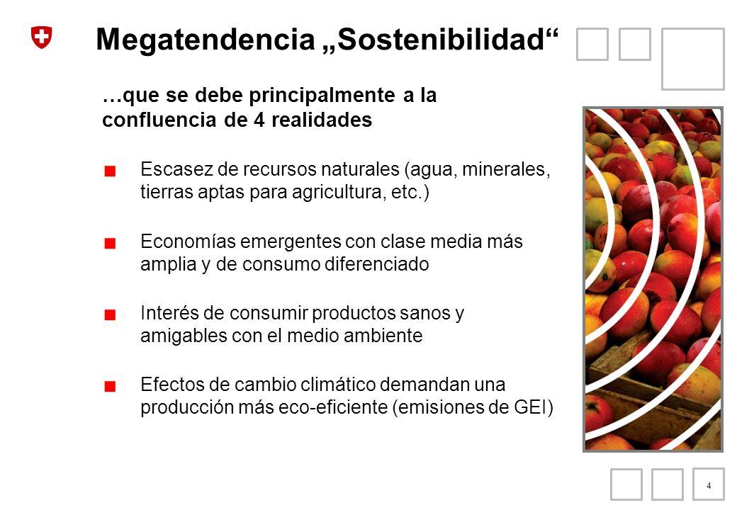 Megatendencia Sostenibilidad los productos de nicho Mayor demanda de productos y servicios que cumplan estándares sociales y ambientales Mercado orgánico: 53 mil millones de USD (crecimiento de 14% anual) Comercio Justo: 4.1 mil millones USD (crecimiento de 40% anual) Es tiempo de los sellos… 5