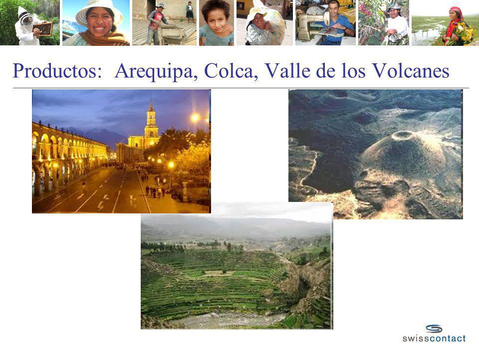 Productos: Arequipa, Colca, Valle de los Volcanes
