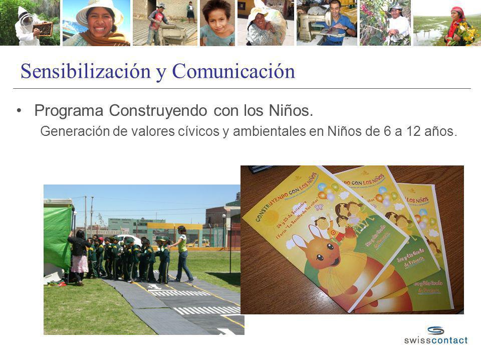 Sensibilización y Comunicación Programa Construyendo con los Niños. Generación de valores cívicos y ambientales en Niños de 6 a 12 años.