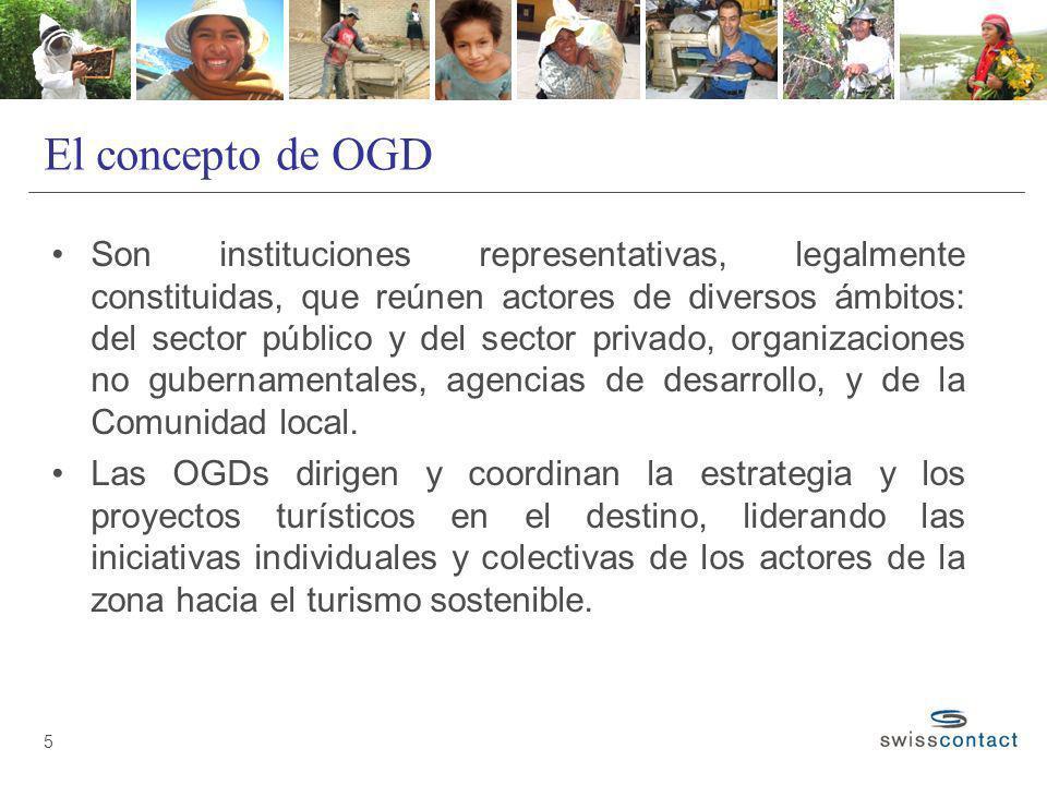 El concepto de OGD Son instituciones representativas, legalmente constituidas, que reúnen actores de diversos ámbitos: del sector público y del sector