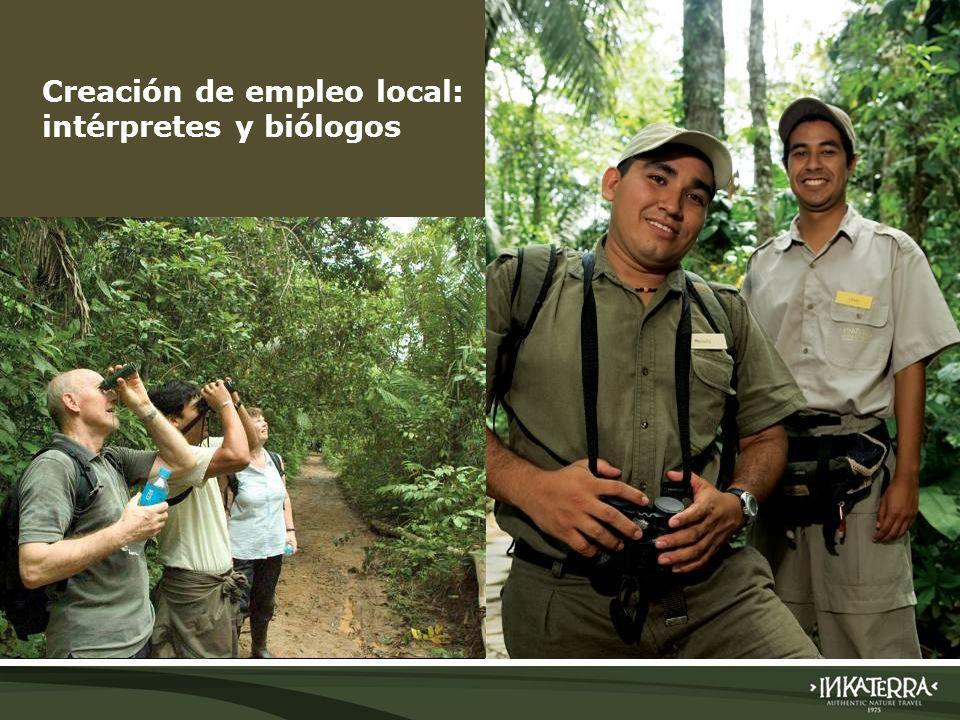 AMAZONICA SUITE Creación de empleo local: intérpretes y biólogos