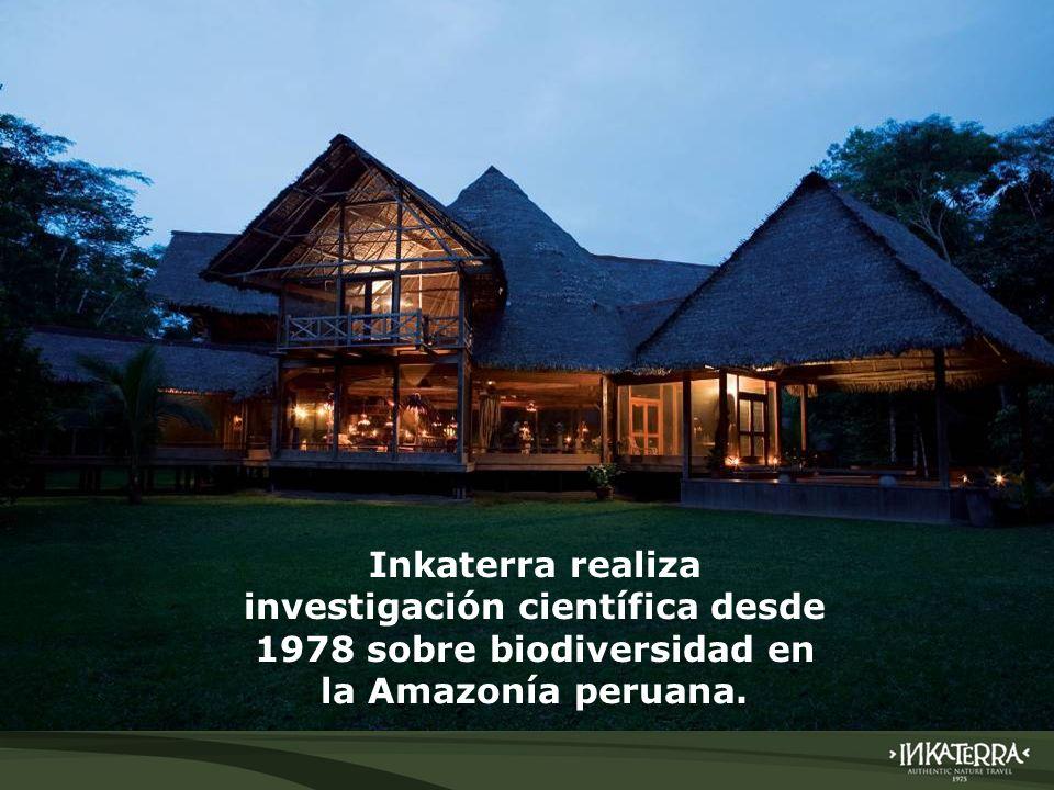AMAZONICA SUITE Inkaterra realiza investigación científica desde 1978 sobre biodiversidad en la Amazonía peruana.