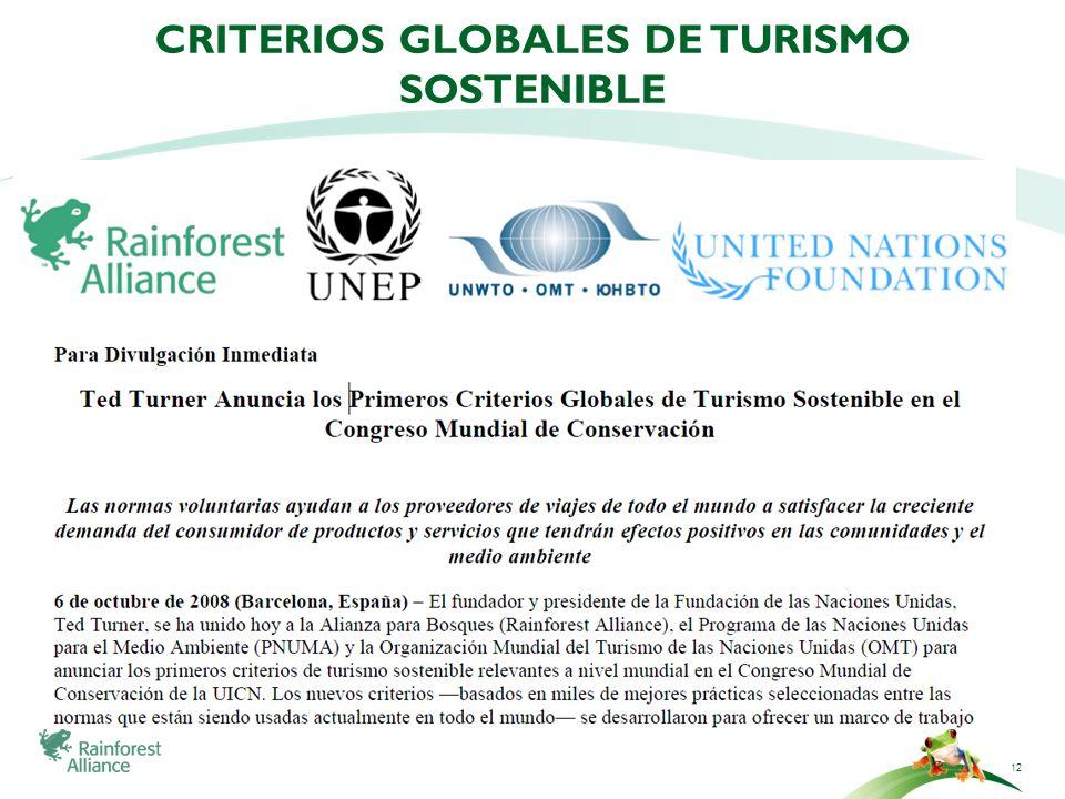 CRITERIOS GLOBALES DE TURISMO SOSTENIBLE 12