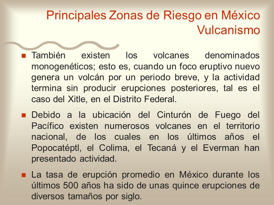 n n También existen los volcanes denominados monogenéticos; esto es, cuando un foco eruptivo nuevo genera un volcán por un periodo breve, y la activid