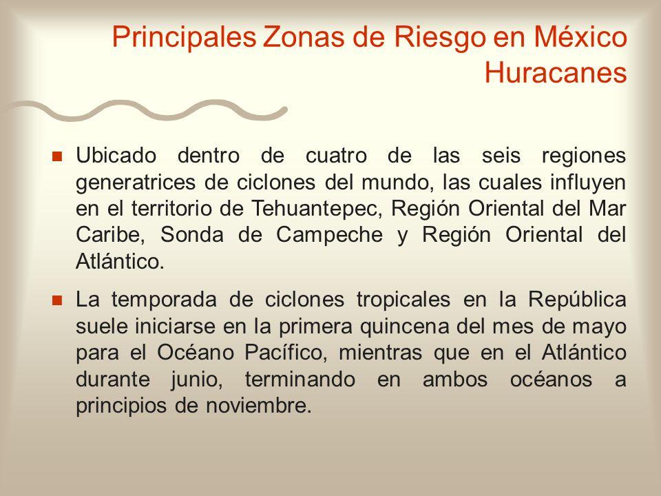 n n Ubicado dentro de cuatro de las seis regiones generatrices de ciclones del mundo, las cuales influyen en el territorio de Tehuantepec, Región Orie