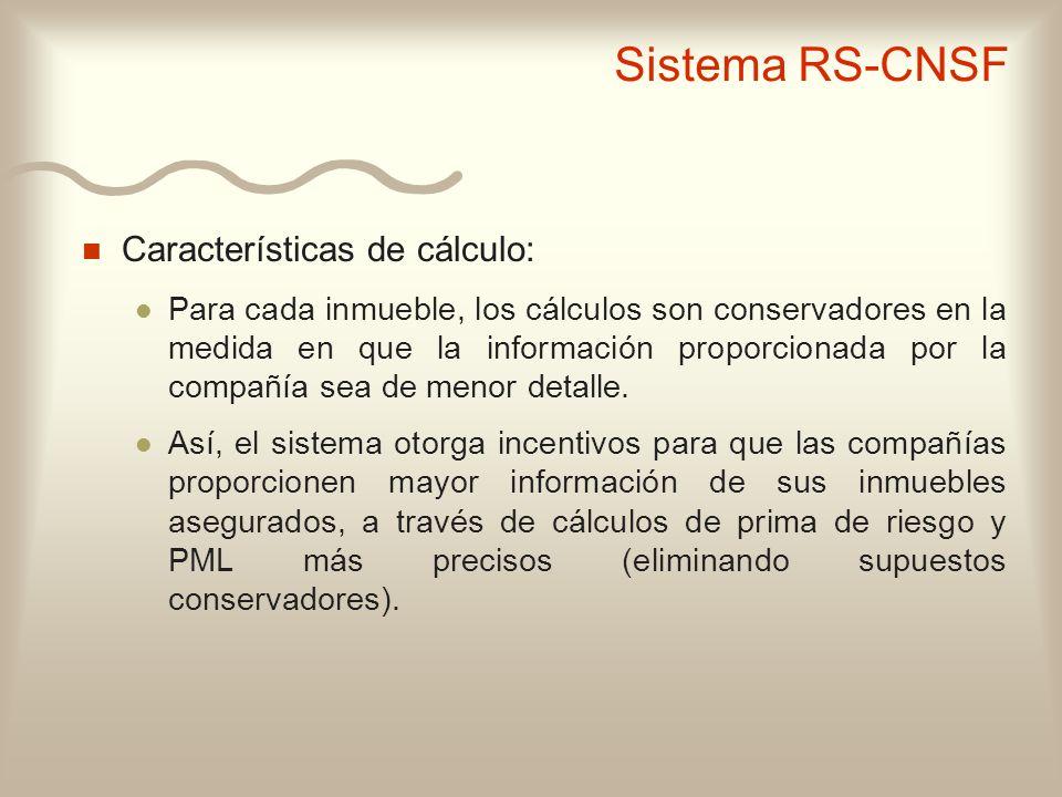 n Características de cálculo: l Para cada inmueble, los cálculos son conservadores en la medida en que la información proporcionada por la compañía se