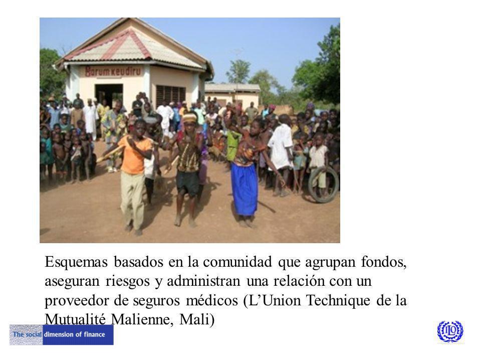 Esquemas basados en la comunidad que agrupan fondos, aseguran riesgos y administran una relación con un proveedor de seguros médicos (LUnion Technique de la Mutualité Malienne, Mali)