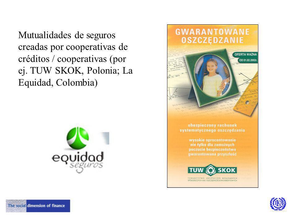 Mutualidades de seguros creadas por cooperativas de créditos / cooperativas (por ej.