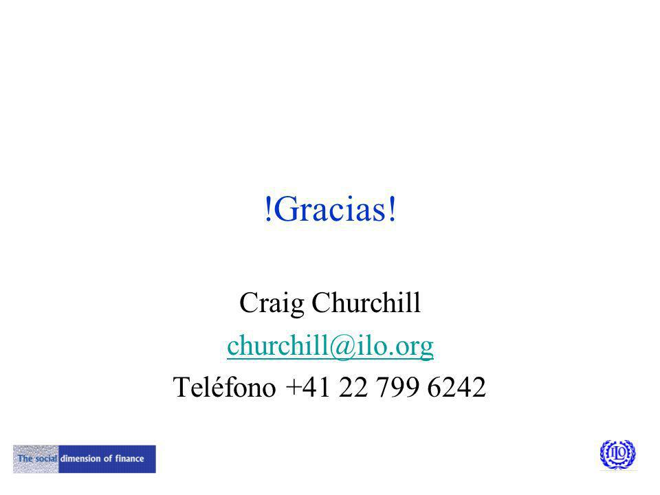 !Gracias! Craig Churchill churchill@ilo.org Teléfono +41 22 799 6242