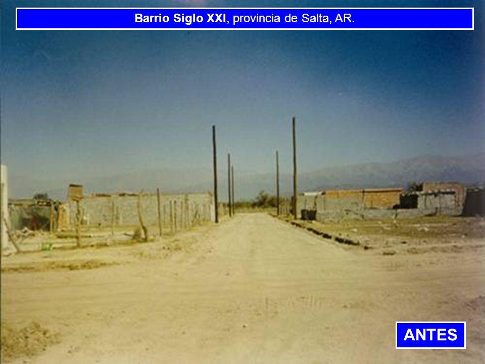 BANCO INTERAMERICANO DE DESARROLLO BANCO INTERAMERICANO DE DESARROLLO BANCO INTERAMERI Barrio Siglo XXI, provincia de Salta, AR. ANTES