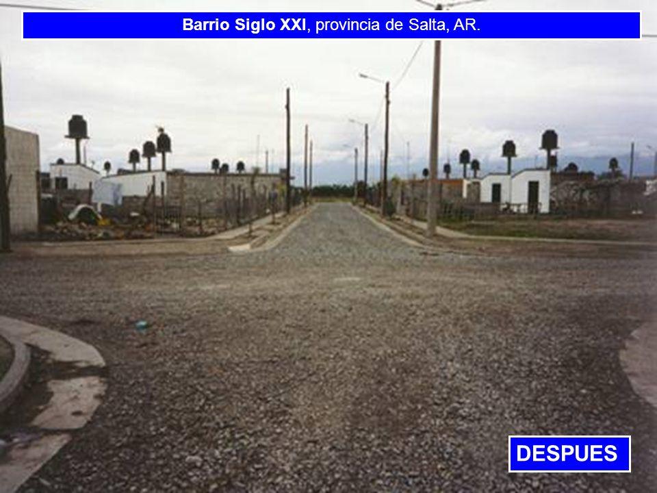 BANCO INTERAMERICANO DE DESARROLLO BANCO INTERAMERICANO DE DESARROLLO BANCO INTERAMERI Barrio Siglo XXI, provincia de Salta, AR. DESPUES