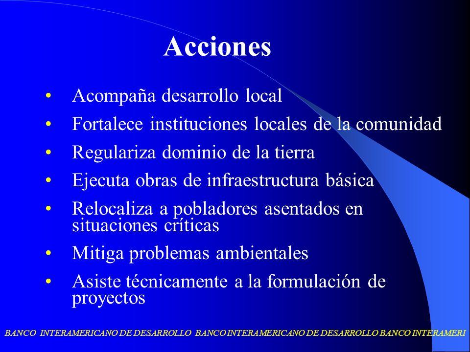 BANCO INTERAMERICANO DE DESARROLLO BANCO INTERAMERICANO DE DESARROLLO BANCO INTERAMERI Acompaña desarrollo local Fortalece instituciones locales de la