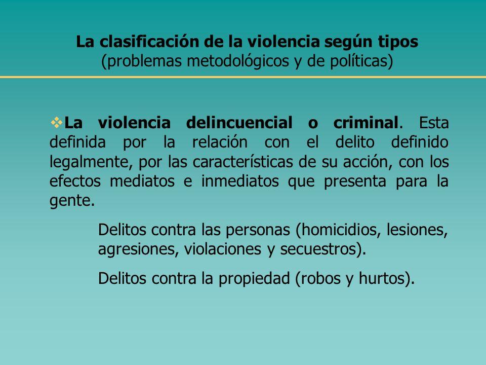 Las relaciones entre violencia y pobreza, violencia y exclusión social La relación entre violencia y pobreza no es de causalidad. No todos los pobres