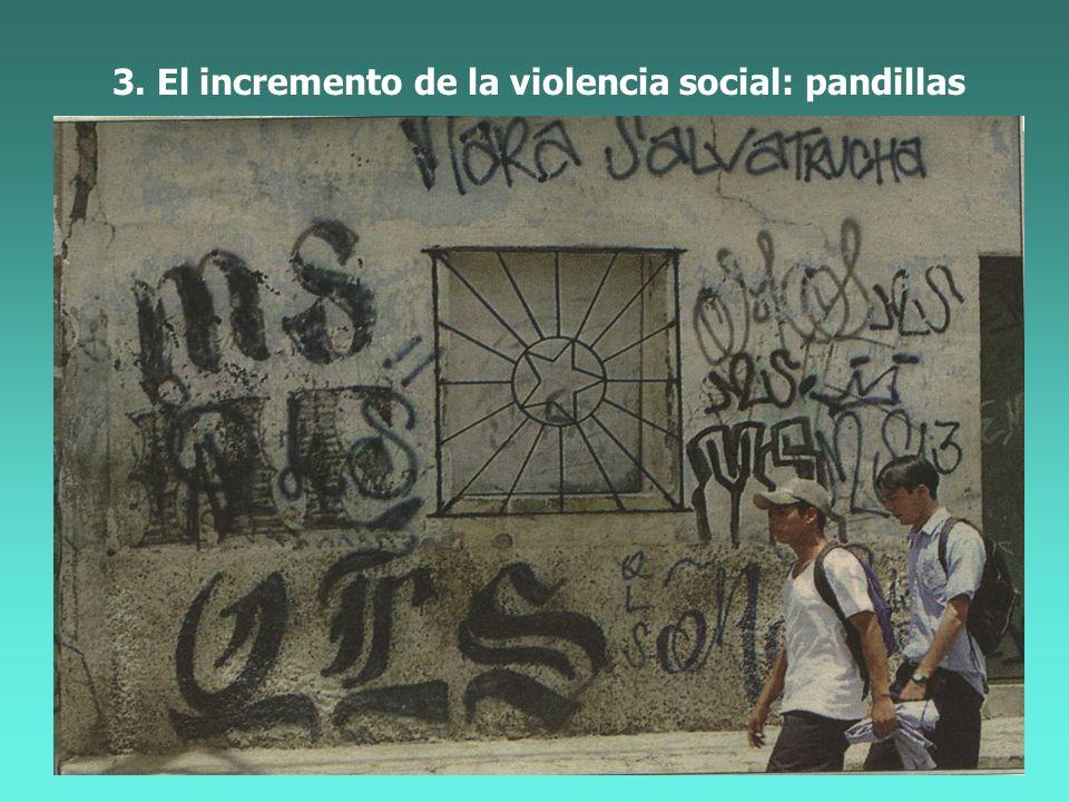 3. El incremento de violencia social: pandillas