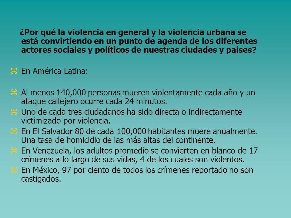 Indice la presentación 1.Algunos elementos conceptuales clave 2.Caracterización de la violencia en las ciudades centroamericanas. El caso de San Salva
