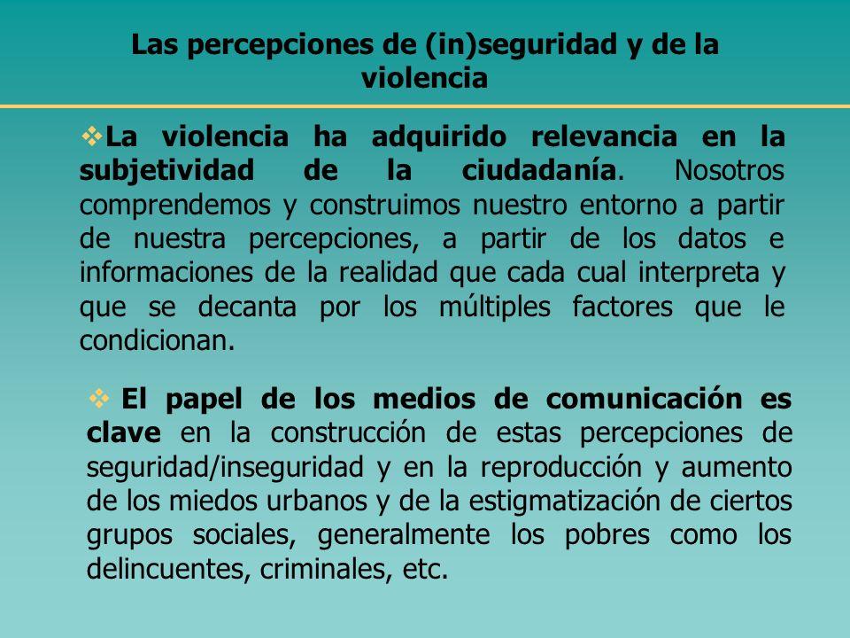 I. ALGUNOS CONCEPTOS CLAVE ¿Qué entendemos por violencia? y por violencia urbana? La violencia es un fenómeno sistémico (estructural) y no sólo indivi
