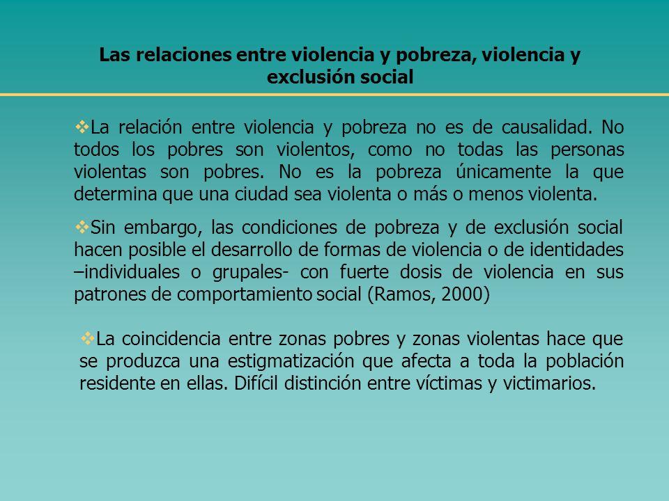 Otros estudios ubican las causas del crecimiento actual de la violencia en A.L. en al menos tres direcciones: Los cambios en la sociedad y en los patr