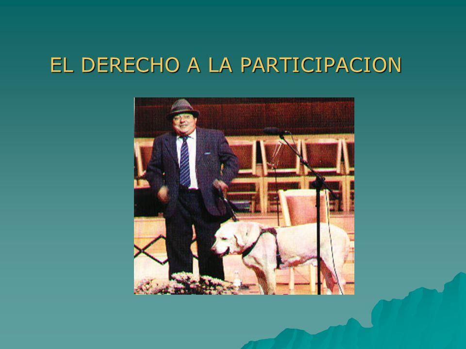 EL DERECHO A LA PARTICIPACION