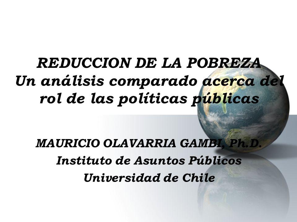 REDUCCION DE LA POBREZA Un análisis comparado acerca del rol de las políticas públicas MAURICIO OLAVARRIA GAMBI, Ph.D. Instituto de Asuntos Públicos U