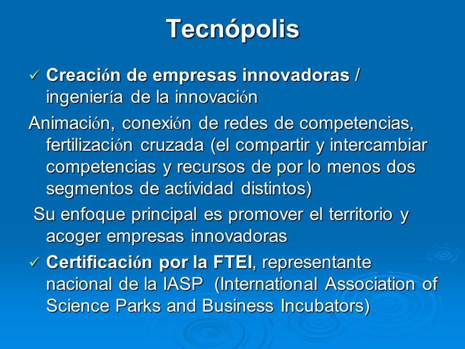 Interfaz entre Europa y América Acceso a Francia y Europa Acceso a Francia y Europa Miembro de la red FTEI (red francesa de tecnópolis y incubadoras) Miembro de la red FTEI (red francesa de tecnópolis y incubadoras) Miembro de la red EBN (red europea de Centros Europeos de Empresas Innovadoras) Miembro de la red EBN (red europea de Centros Europeos de Empresas Innovadoras) Acceso a la Amazonía y América del Sur Acceso a la Amazonía y América del Sur Cooperación con Brasil y con Trinidad y Tobago Cooperación con Brasil y con Trinidad y Tobago En progreso, la creación de una red de incubadoras de empresas en la Amazonía (OTCA) y el Caribe.
