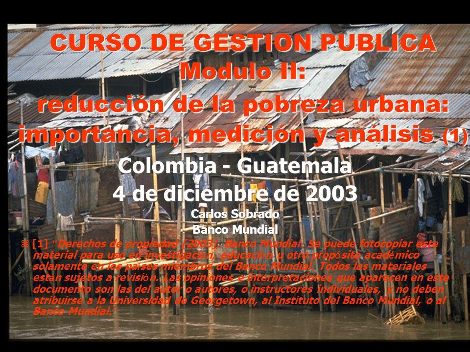 Colombia - Guatemala 4 de diciembre de 2003 Carlos Sobrado Banco Mundial z [1] Derechos de propiedad [2003], Banco Mundial.