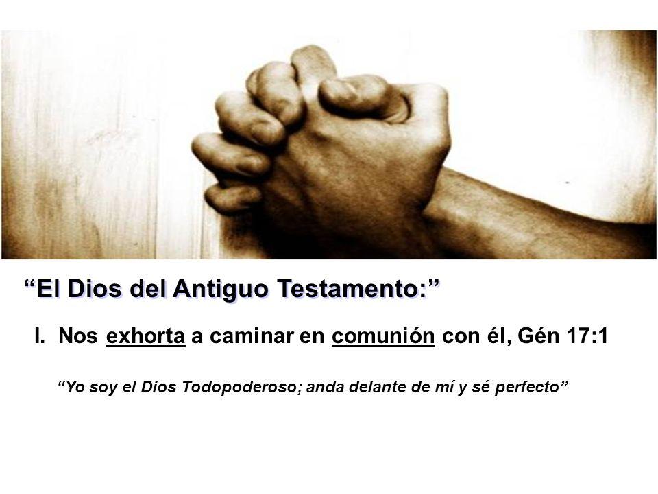 El Dios del Antiguo Testamento: I.