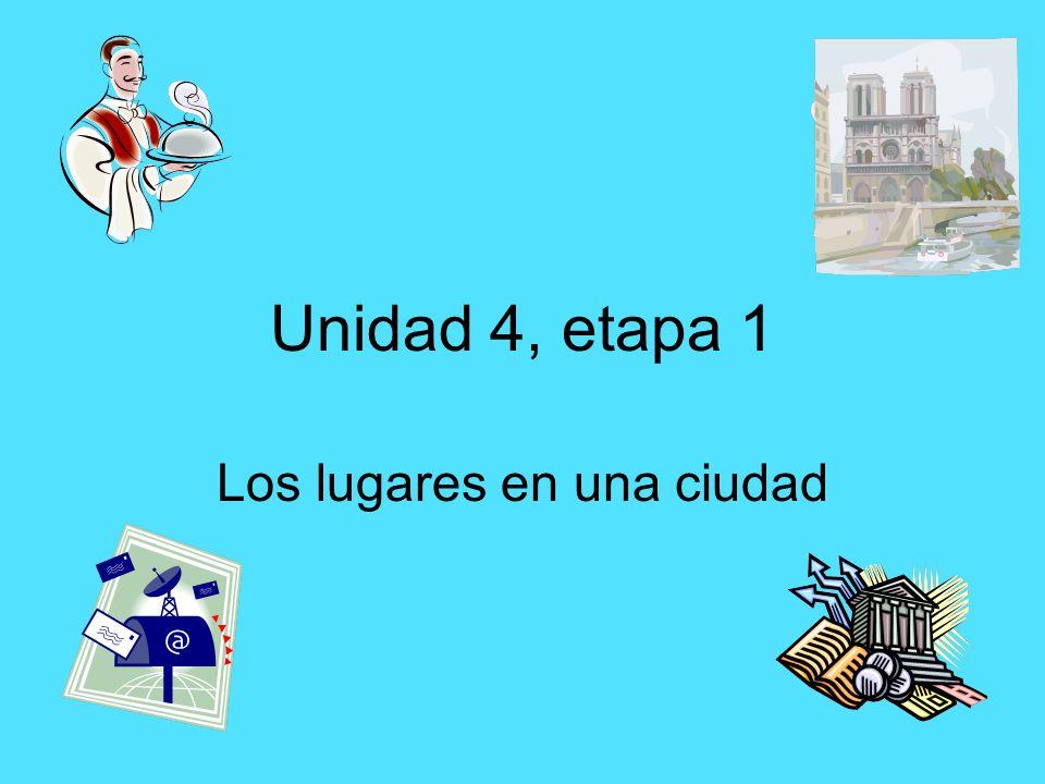 Unidad 4, etapa 1 Los lugares en una ciudad