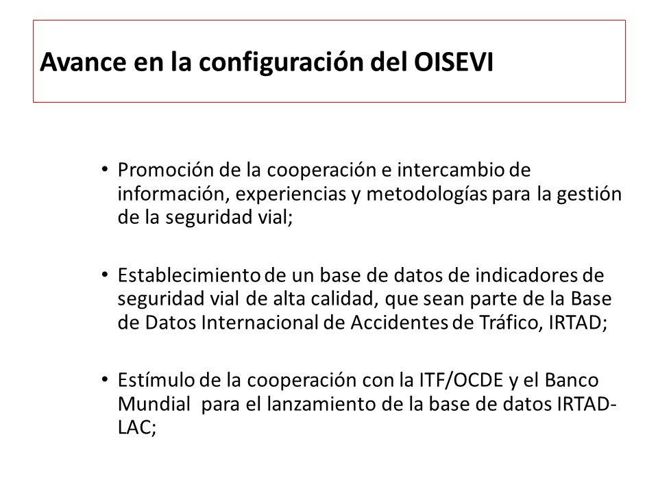 Avance en la configuración del OISEVI Promoción de la cooperación e intercambio de información, experiencias y metodologías para la gestión de la segu