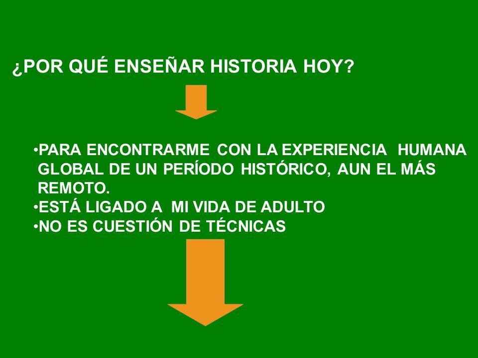 ¿POR QUÉ ENSEÑAR HISTORIA HOY.