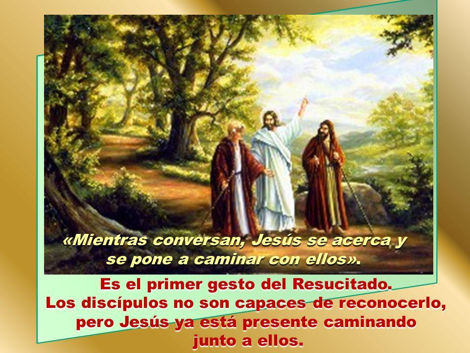 Sin embargo, estos discípulos siguen hablando de Jesús. No lo pueden olvidar. Comentan lo sucedido. Tratan de buscarle algún sentido a lo que han vivi