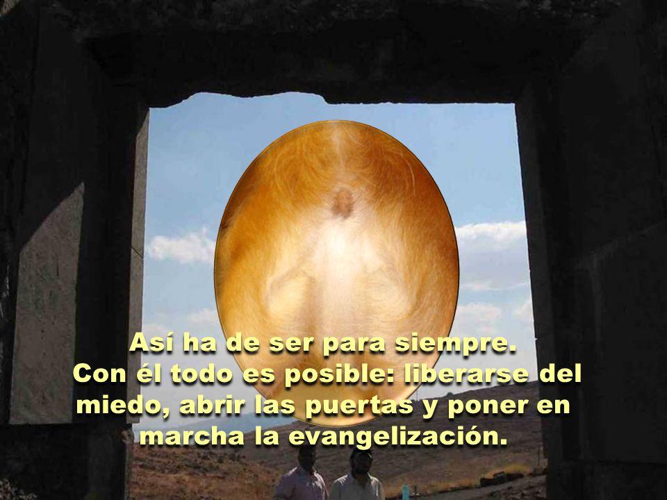 El evangelista Juan describe de manera insuperable la transformación que se produce en los discípulos cuando Jesús, lleno de vida, se hace presente en medio de ellos.
