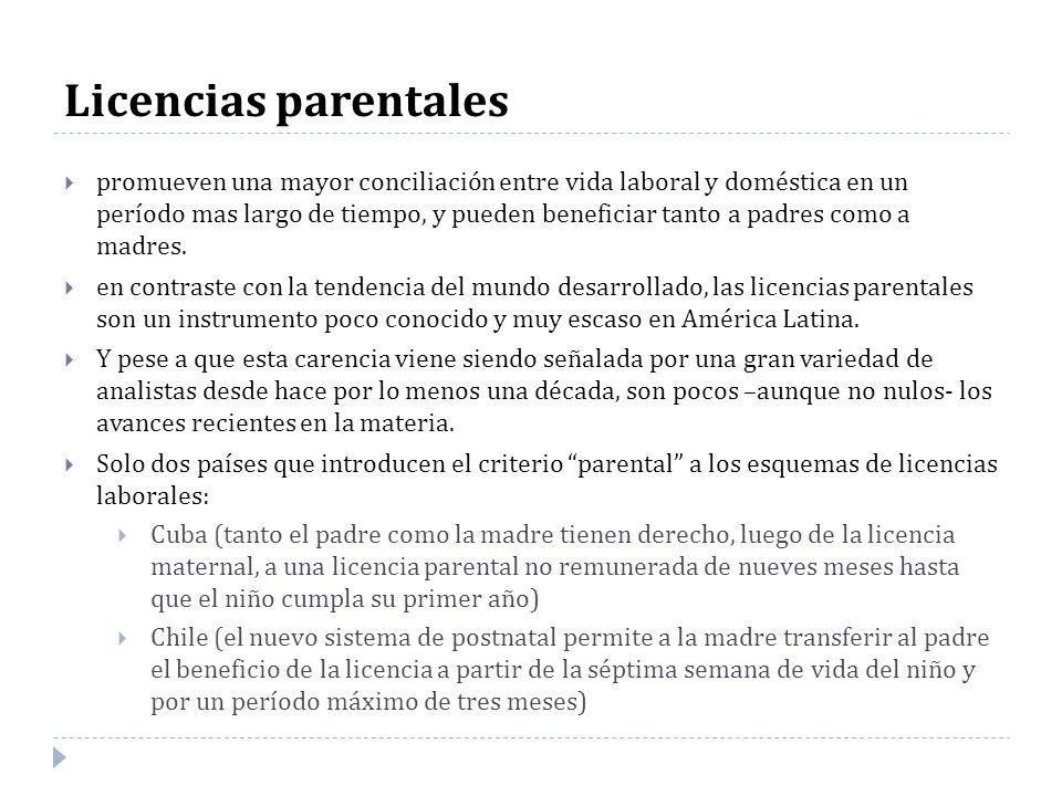 Licencias parentales promueven una mayor conciliación entre vida laboral y doméstica en un período mas largo de tiempo, y pueden beneficiar tanto a pa
