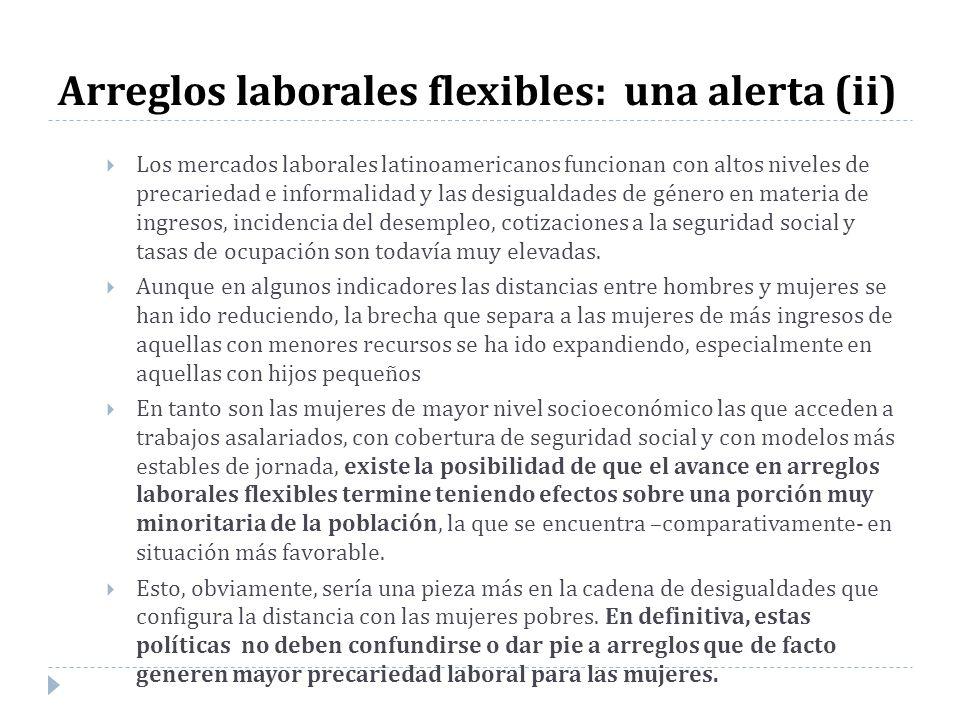 Arreglos laborales flexibles: una alerta (ii) Los mercados laborales latinoamericanos funcionan con altos niveles de precariedad e informalidad y las