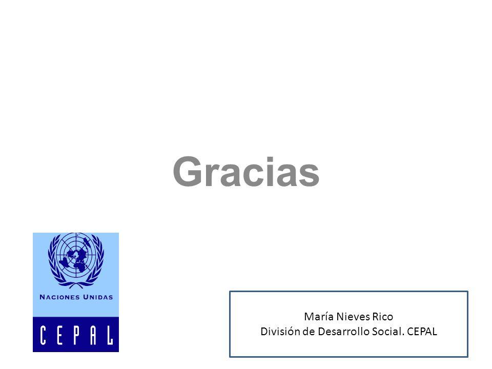Gracias María Nieves Rico División de Desarrollo Social. CEPAL