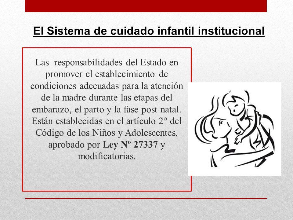 Las responsabilidades del Estado en promover el establecimiento de condiciones adecuadas para la atención de la madre durante las etapas del embarazo,