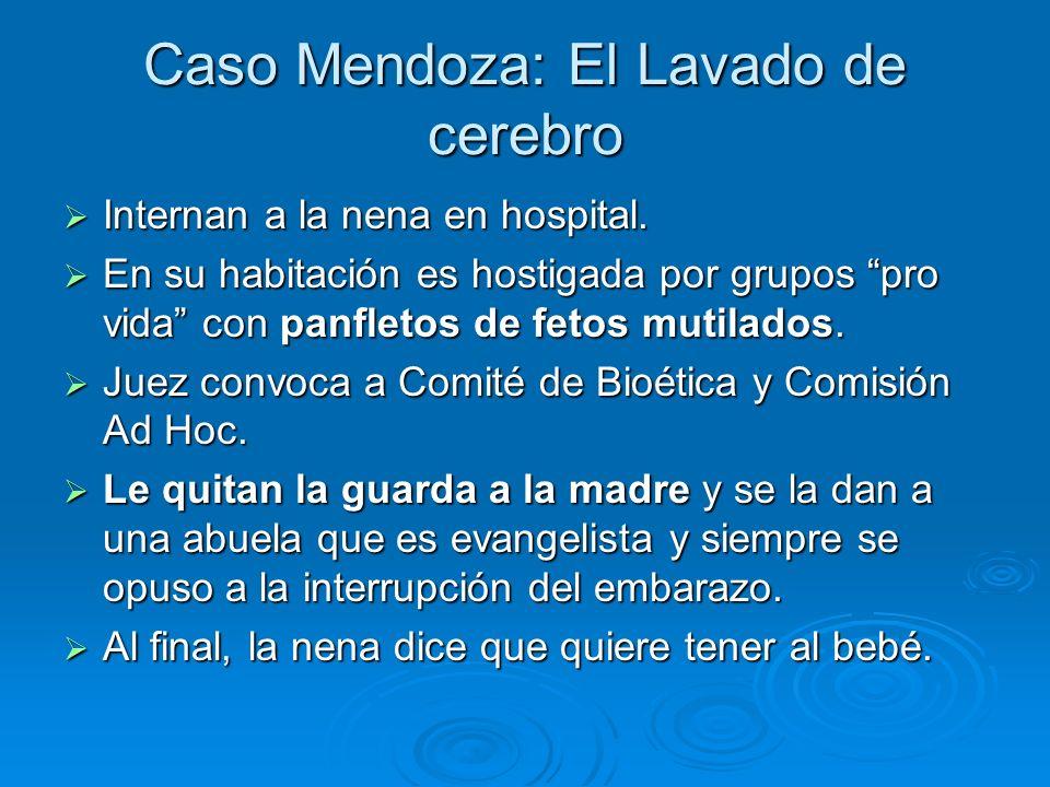 Caso Mendoza: El Lavado de cerebro Internan a la nena en hospital.