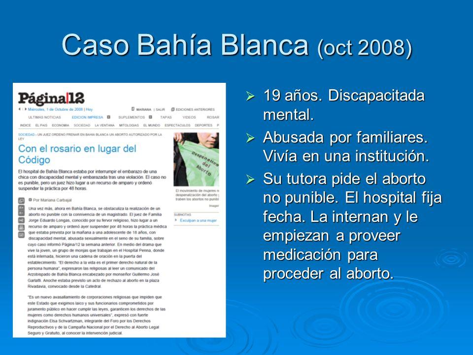 Caso Bahía Blanca (oct 2008) 19 años. Discapacitada mental.