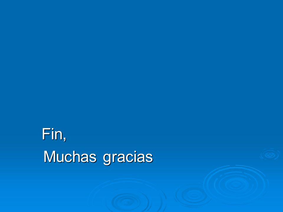 Fin, Fin, Muchas gracias Muchas gracias