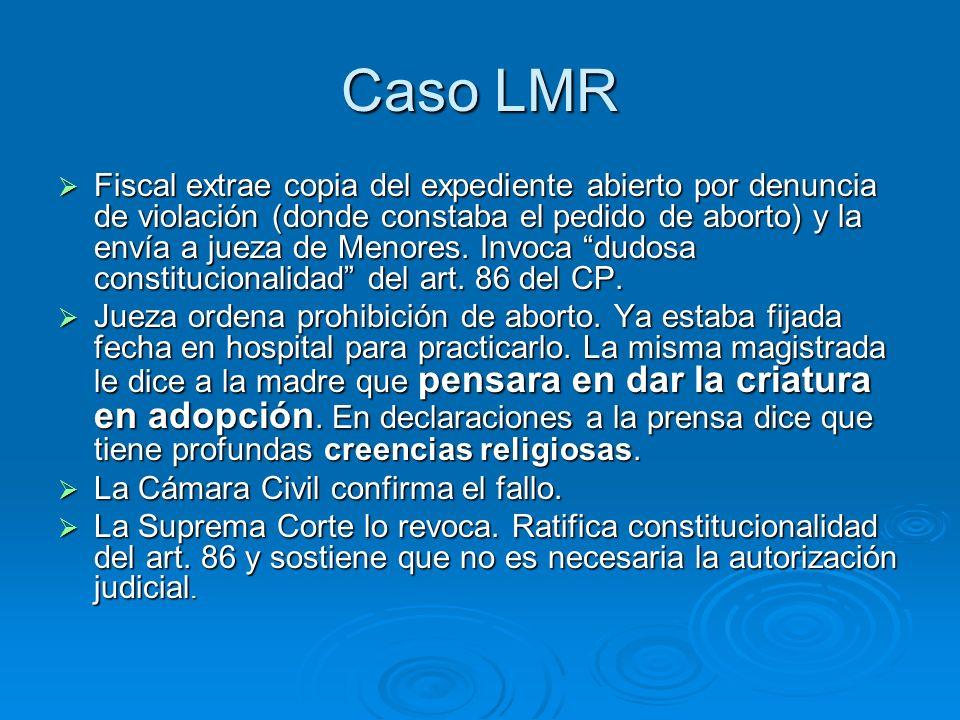 Caso LMR Hospital se niega.Alega que el embarazo está muy avanzado.
