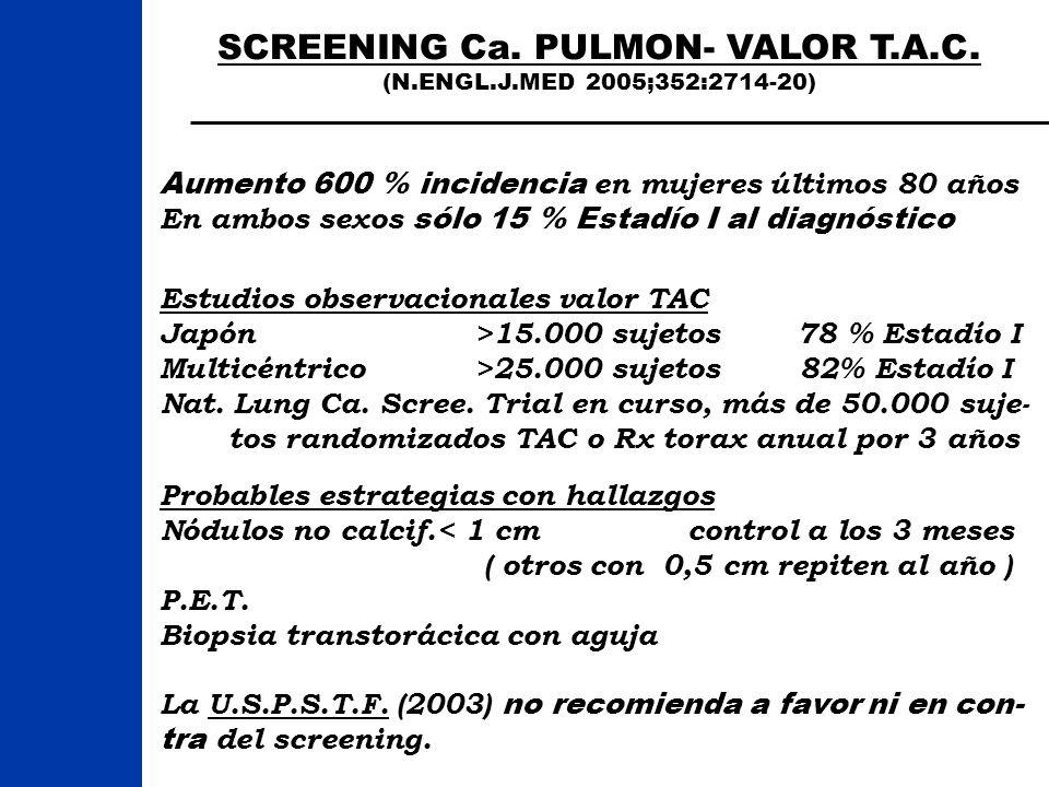 SCREENING Ca. PULMON- VALOR T.A.C.