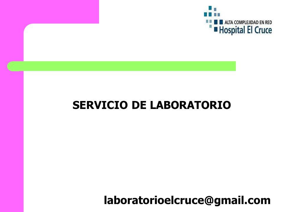 SERVICIO DE LABORATORIO laboratorioelcruce@gmail.com